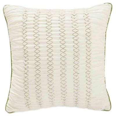 Bridge Street Spring Dahlia Square Throw Pillow in Ivory