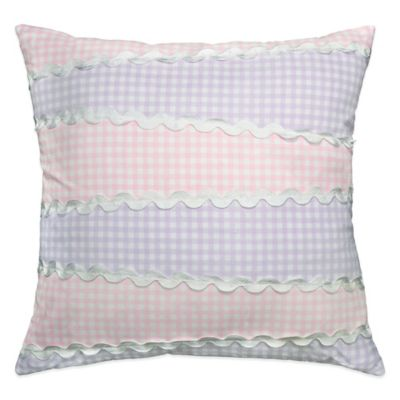 Madison Gingham Ric Rac Throw Pillow