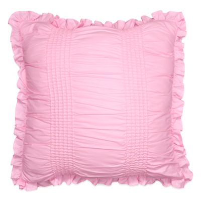 Sophia Smocked Square Throw Pillow in Pink