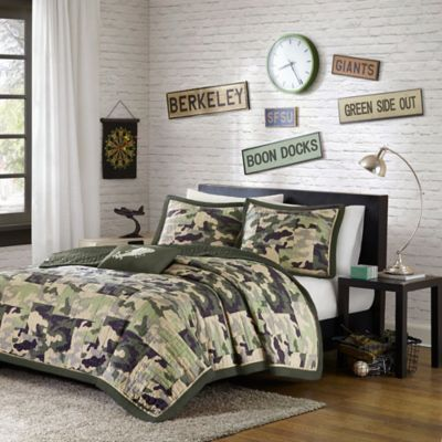 Mizone Josh Twin/Twin XL Coverlet Set in Green