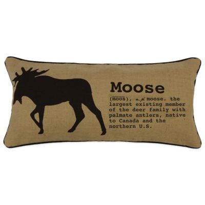 Lamington Moose Boudoir Throw Pillow in Taupe