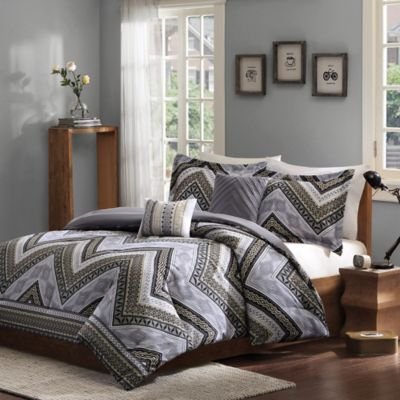 Intelligent Design Talula 5-Piece Full/Queen Comforter Set in Taupe