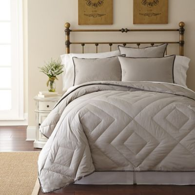 Grey Down Comforter Queen