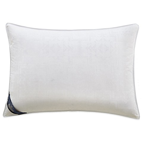 buy pendleton 400 thread count jacquard classic wool down standard pillow in white from bed. Black Bedroom Furniture Sets. Home Design Ideas