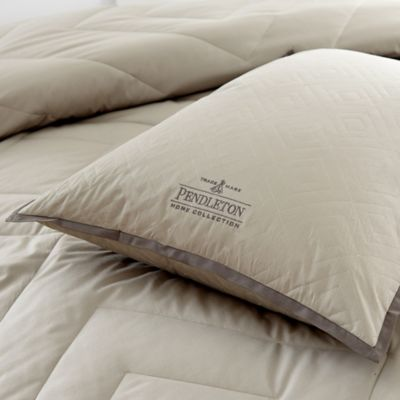 Pendleton® PrimaLoft™ Vintage Wash Grey Down Alternative King Pillow