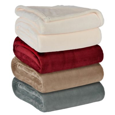 Berkshire VelvetLoft™ Cape Codder Heavyweight Twin Blanket in Linen