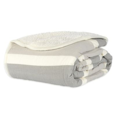 Berkshire Menswear Reversible Sherpa Twin Blanket