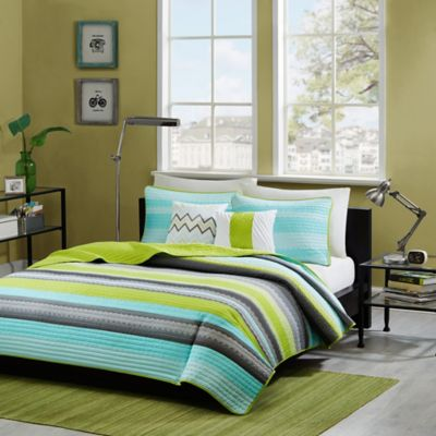Intelligent Design Tess 5-Piece Full/Queen Coverlet Set in Teal