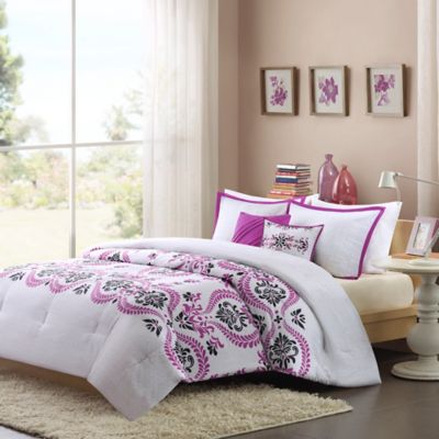 Intelligent Design Blaire 4-Piece Twin/Twin XL Comforter Set in Purple