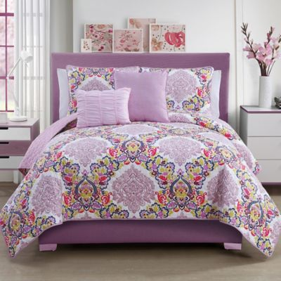Dolce Vita Reversible 5-Piece King Quilt Set