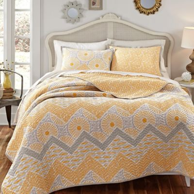 KD Spain Sunnyside Reversible King Quilt Set
