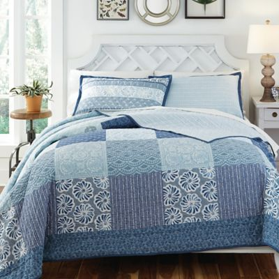 KD Spain Horizon Reversible Full/Queen Quilt Set