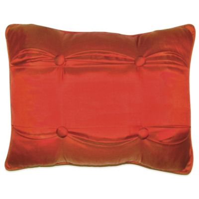 Red Carlisle Silk Throw Pillow