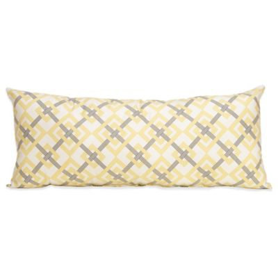 Glenna Jean Melrose Diamond Rectangular Bolster Pillow in Yellow/Grey/White