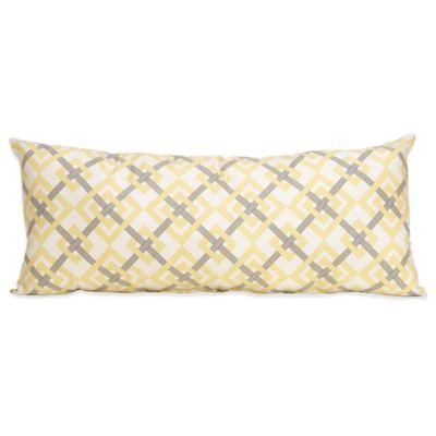 Grey White Bolster Pillow