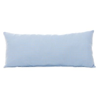 Glenna Jean Starlight Gingham Rectangular Bolster in Blue/White