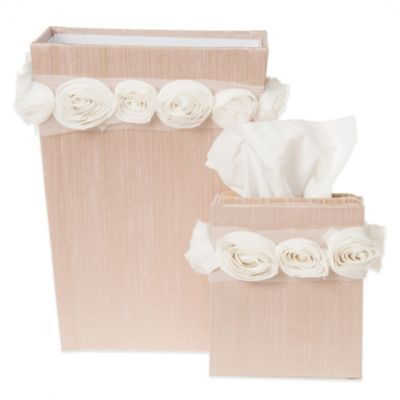 Glenna Jean Contessa Tissue Cover and Wastebasket