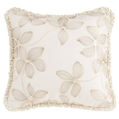 Glenna Jean Florence Embroidered Floral Throw Pillow