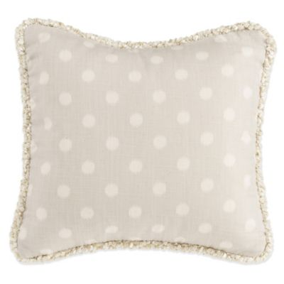 Glenna Jean Florence Dot Throw Pillow in Grey/Ivory