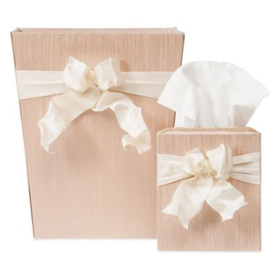 Glenna Jean Florence Wastebasket and Tissue Cover Set