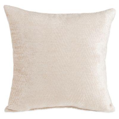 Glenna Jean Jetson Velvet Throw Pillow in Cream
