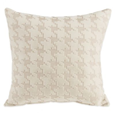 Glenna Jean Jetson Houndstooth Throw Pillow in Cream