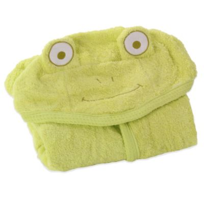 Minene Toddler Nation Medium Frog Bath Robe in Green