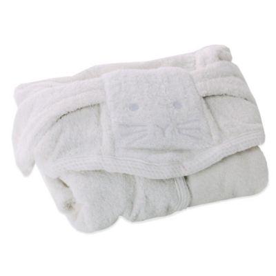 Minene Toddler Nation Medium Dog Bath Robe in White