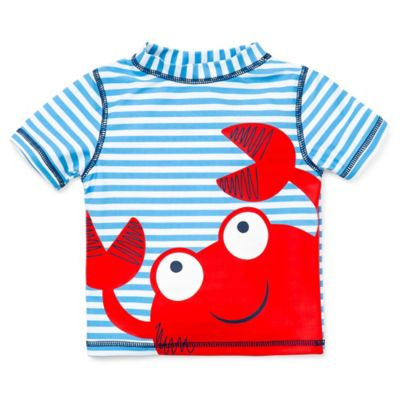 Little Me® Size 24M Short Sleeve Crab Rashguard in Blue/Red