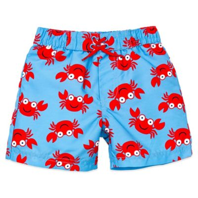 Little Me® Size 24M Crab Print Swim Trunk in Blue/Red