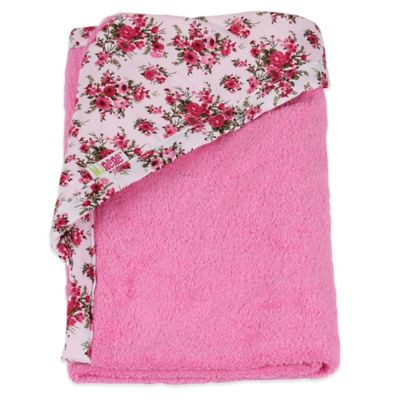 Minene Toddler Nation Newborn Hooded Towel in Pink
