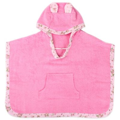 Minene Toddler Nation Cuddly Poncho in Pink