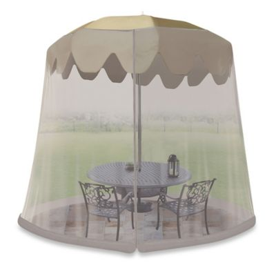 Jobar 9-Foot Umbrella Table Screen in Grey