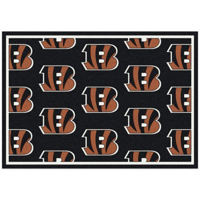 NFL Cincinnati Bengals Repeating Small Area Rug