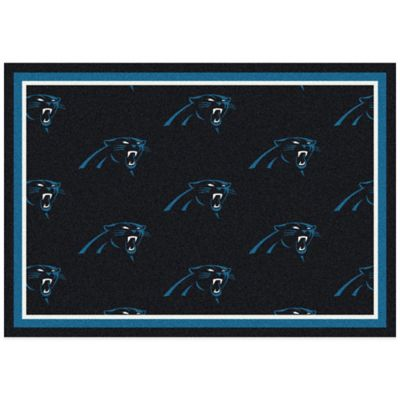 NFL Carolina Panthers Repeating Small Area Rug