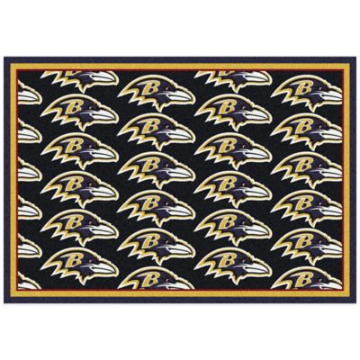 NFL Baltimore Ravens Repeating 7-Foot 8-Inch x 10-Foot 9-Inch Area Rug