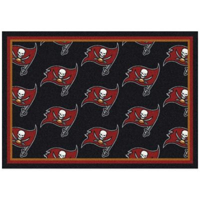 NFL Tampa Bay Buccaneers Repeating Large Area Rug