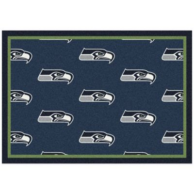 NFL Seattle Seahawks Repeating Small Area Rug
