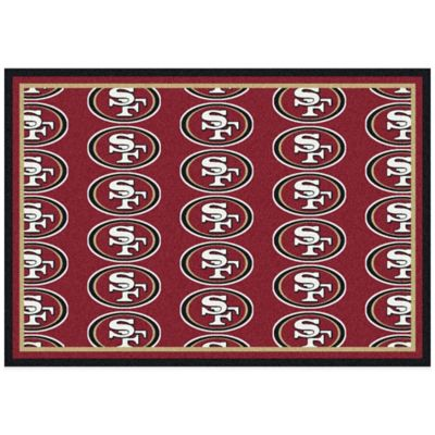 NFL San Francisco 49ers Repeating Small Area Rug