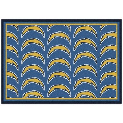 NFL San Diego Chargers Repeating Small Area Rug