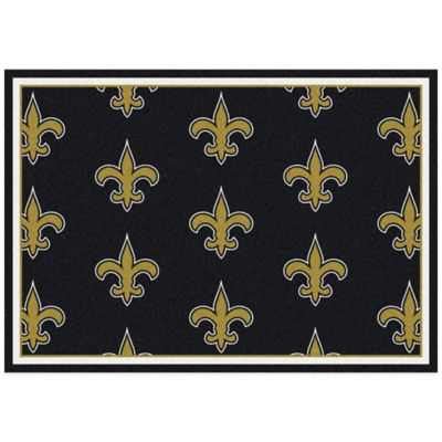 NFL New Orleans Saints Repeating Large Area Rug