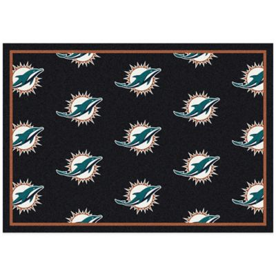 NFL Miami Dolphins Repeating Small Area Rug