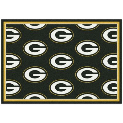 NFL Green Bay Packers Repeating Medium Area Rug