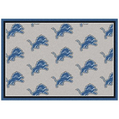 NFL Detroit Lions Repeating Large Area Rug