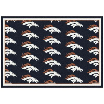 NFL Denver Broncos Repeating 3-Foot 10-Inch x 5-Foot 4-Inch Area Rug