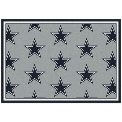 NFL Dallas Cowboys Repeating 7-Foot 8-Inch x 10-Foot 9-Inch Area Rug