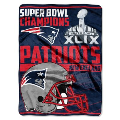 NFL New England Patriots Super Bowl XLIX Champs Oversized Raschel Throw Blanket