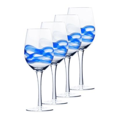 Mikasa® Admiral Wine Glasses in Cobalt (Set of 4)
