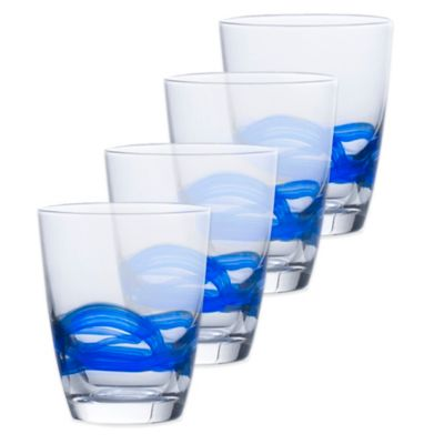 Mikasa® Admiral Double Old Fashioned Glasses in Cobalt (Set of 4)