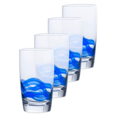 Mikasa® Admiral Highball Glasses in Cobalt (Set of 4)